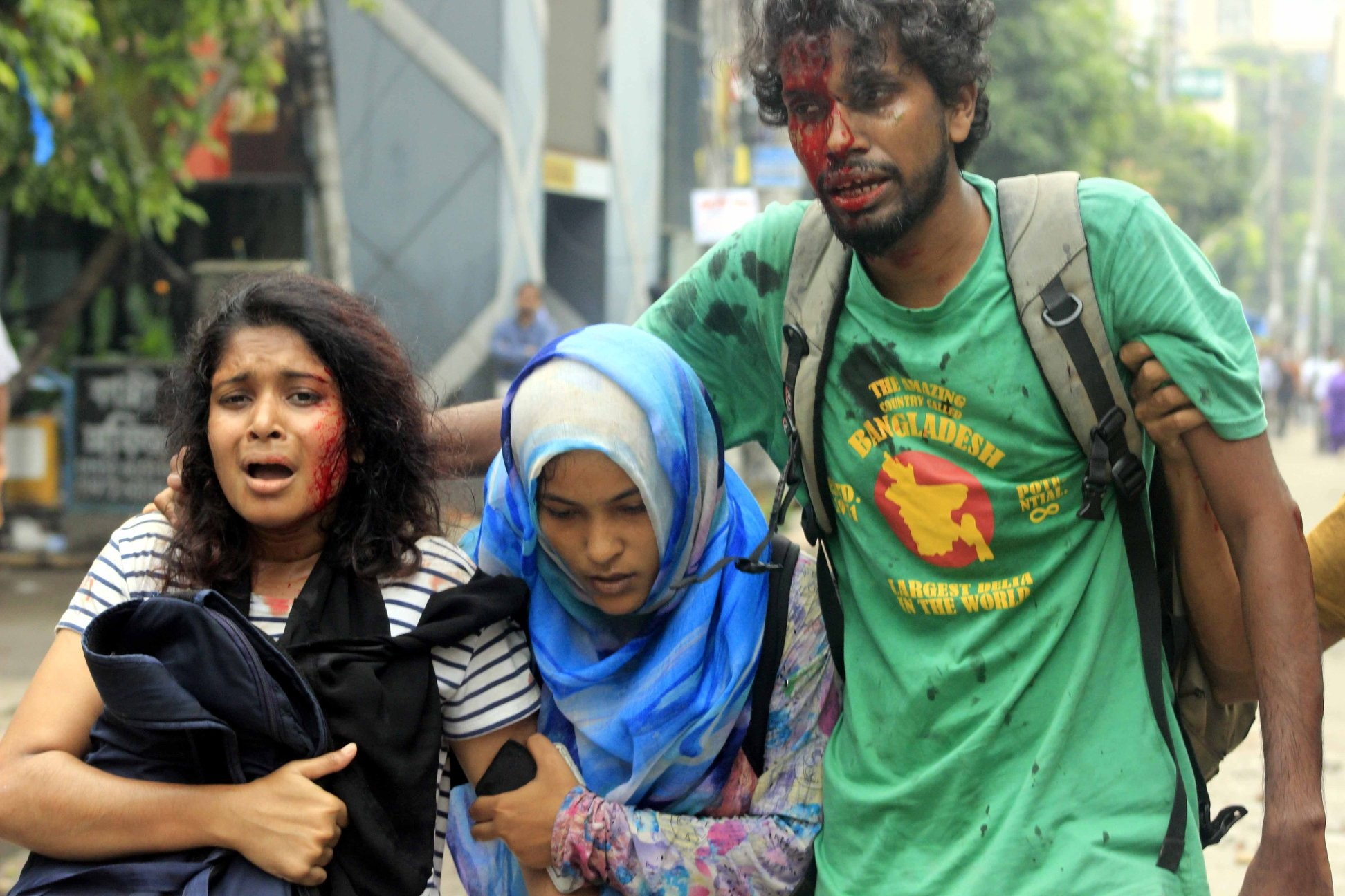 Bangladesh Dhaka Protests Government Attacks Unarmed Protestors