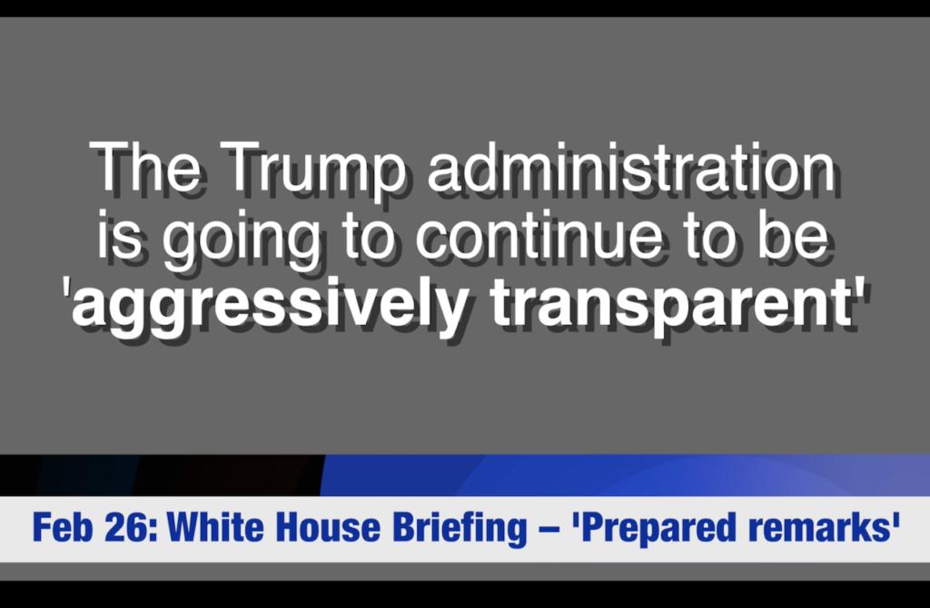 Trumps Aggressive Transparency?