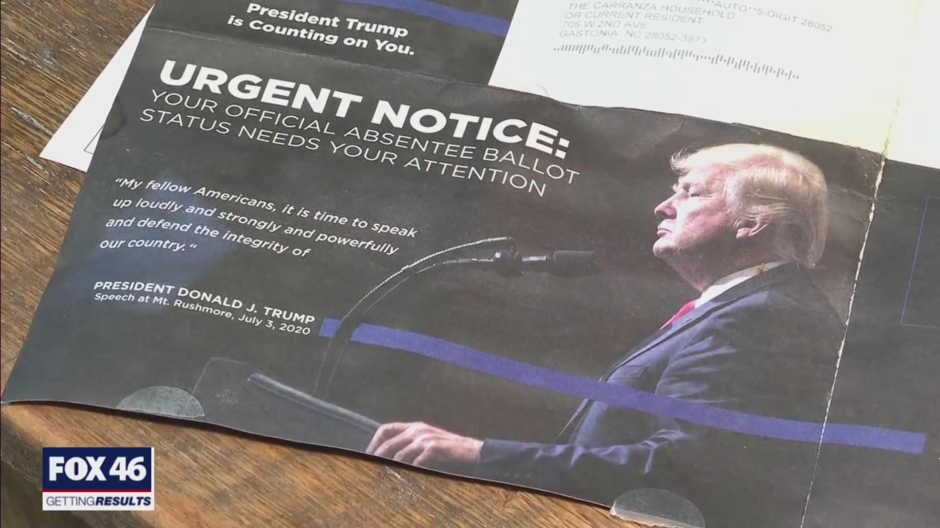 Trump puts his face on ballots